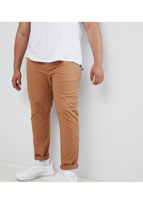 ASOS DESIGN Plus skinny chinos in camel - Rubber