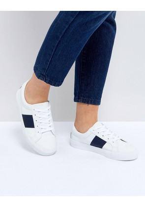 ASOS DINELLA Tape Lace Up Trainers - White