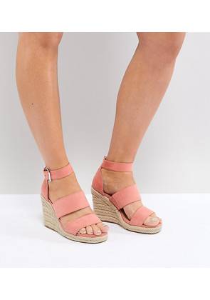 ASOS TAFFY Wide Fit Espadrille Wedges - Coral