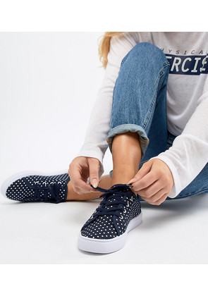 ASOS DESIGN Daisy Wide Fit Trainers - Polka dot