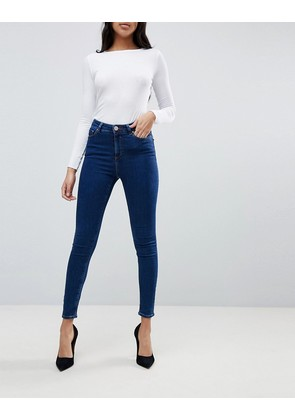 ASOS DESIGN Ridley high waist skinny jeans in deep blue wash - Popular deep blue