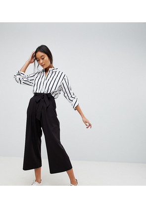 ASOS DESIGN mix & match culotte with tie waist - Black