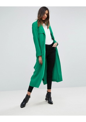 ASOS Crepe Duster Mac - Green