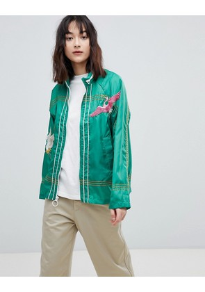 ASOS Embroidered Rain Jacket - Green