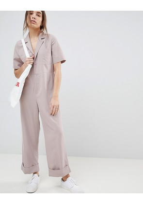 ASOS DESIGN Casual Boilersuit - Mauve