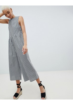 ASOS DESIGN Gingham Smock Jumpsuit - Gingham