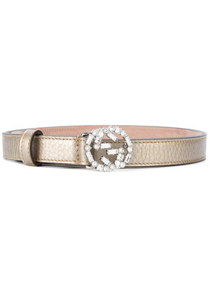 Gucci crystal-embellished GG buckle belt - Unavailable