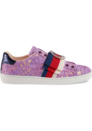 Gucci Ace lace sneakers - Pink & Purple