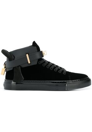 Buscemi strapped hi-top sneakers - Black