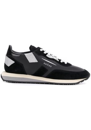 Ghoud panelled lace-up sneakers - Black