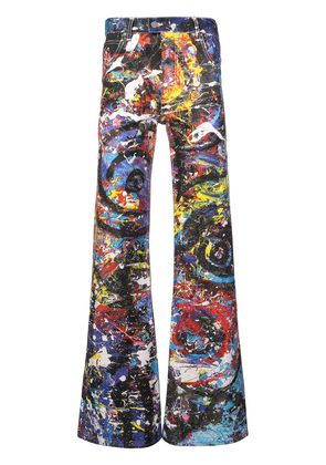 Charles Jeffrey Loverboy painted golden trousers - Multicolour