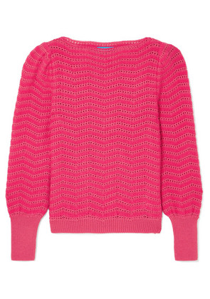 M.i.h Jeans - Celia Pointelle-knit Mohair-blend Sweater - Pink