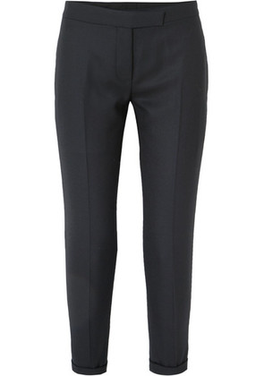 Thom Browne - Cropped Striped Wool-twill Straight-leg Pants - Navy