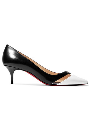 Christian Louboutin - 17th Floor 55 Pvc-trimmed Leather Pumps - Black