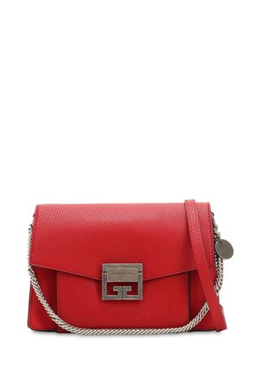 SMALL GV3 GRAINED LEATHER SHOULDER BAG