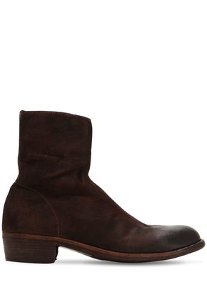 PONTI 001 REVERSED LEATHER BOOTS