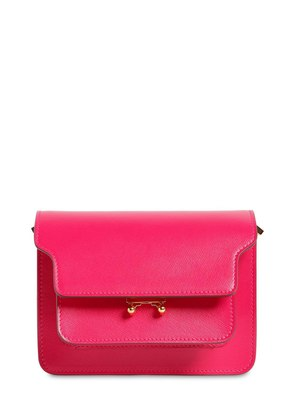 MINI TRUNK SAFFIANO LEATHER SHOULDER BAG