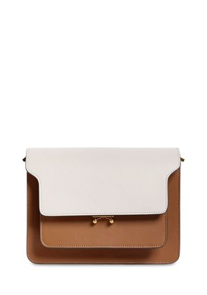 MEDIUM TRUNK TRICOLOR LEATHER BAG
