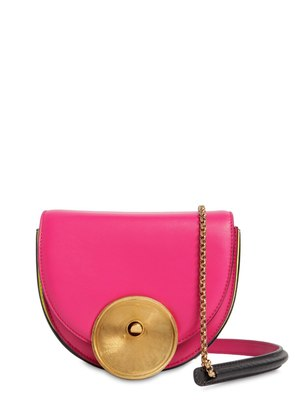 MONILE TRICOLOR LEATHER SHOULDER BAG