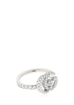 18KT WHITE GOLD & DIAMOND GG RING