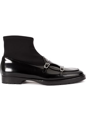 Edhen Milano sock ankle boots - Black