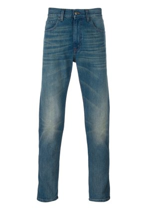 Gucci tiger tapered denim jeans - Blue