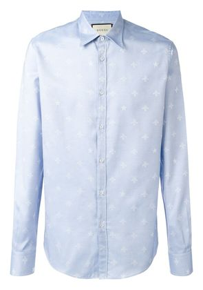 Gucci bee jacquard Duke shirt - Blue