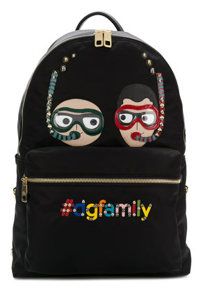 Dolce & Gabbana DG Family embroidered backpack - Black