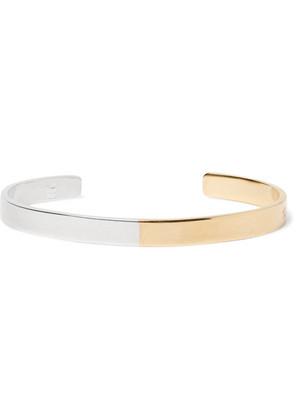 Sterling Silver And Gold-tone Cuff