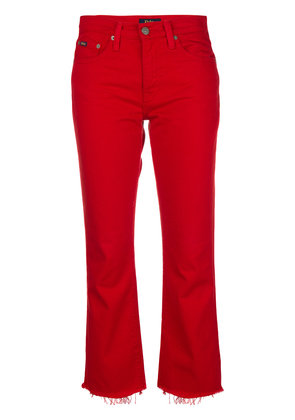 Polo Ralph Lauren raw hem bootcut jeans - Red