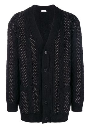 Valentino microstud cable knit cardigan - Black