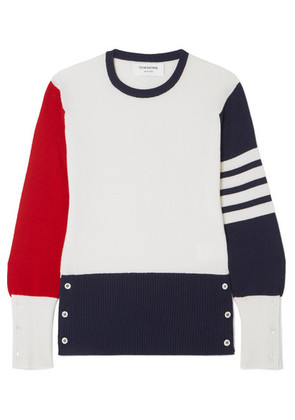 Thom Browne - Color-block Cashmere Sweater - White