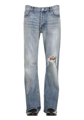 20CM DESTROYED BOOTCUT DENIM JEANS