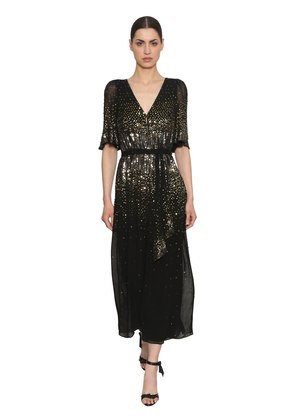 SEQUINED WIDE LEG JUMPSUIT