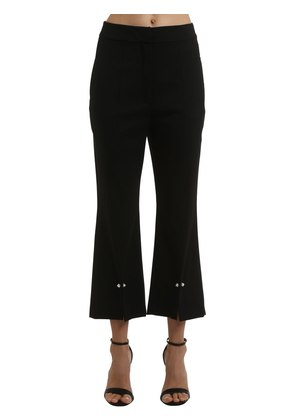 AURIGA WOOL GABARDINE PANTS W/ PIERCINGS