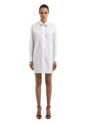 RIGEL POPLIN PIERCING SHIRT DRESS