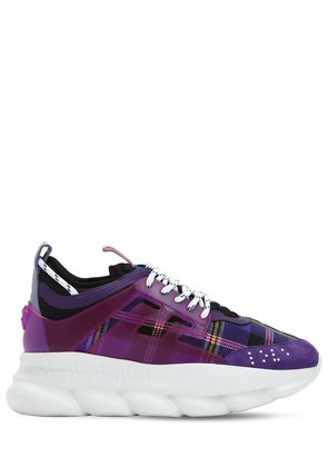 CHAIN REACTION WOOL PLAID SNEAKERS