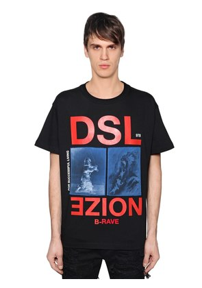 NOIZE PRINTED COTTON JERSEY T-SHIRT