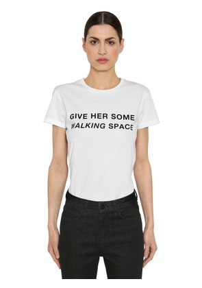 GIVE HER SPACE PRINTED JERSEY T-SHIRT