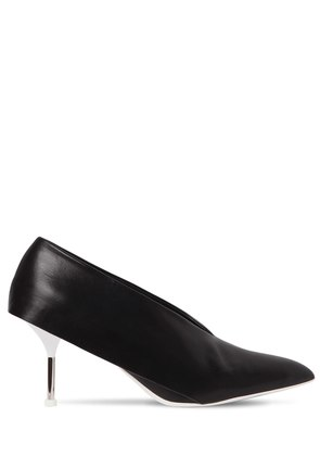 70MM V CUT LEATHER PUMPS