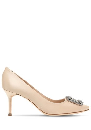 70MM HANGISI SWAROVSKI SILK SATIN PUMPS