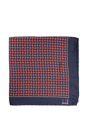 Wing Nut-print silk pocket square