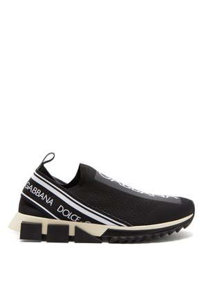 Logo knit low-top trainers