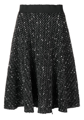Dolce & Gabbana pleated knit skirt - Black