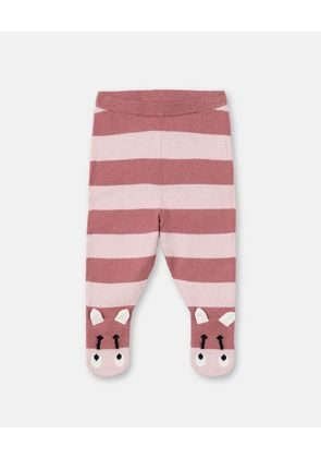 Stella McCartney Kids Pink Striped Bumble Bee Trousers, Unisex, Size 1-3
