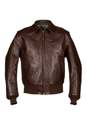 Aero Leather Clothing Brown Happy Days A2 Leather Jacket