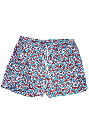 Calabrese 1924 Blue and Red Patterned Swim Shorts