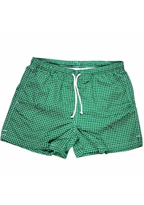 Calabrese 1924 Green and White Daisy Swim Shorts