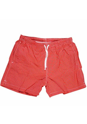 Calabrese 1924 Red and White Mini Paisley Swim Shorts