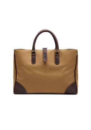 Ettinger Sand Brown Canvas Pursuits Piccadilly Tote Bag